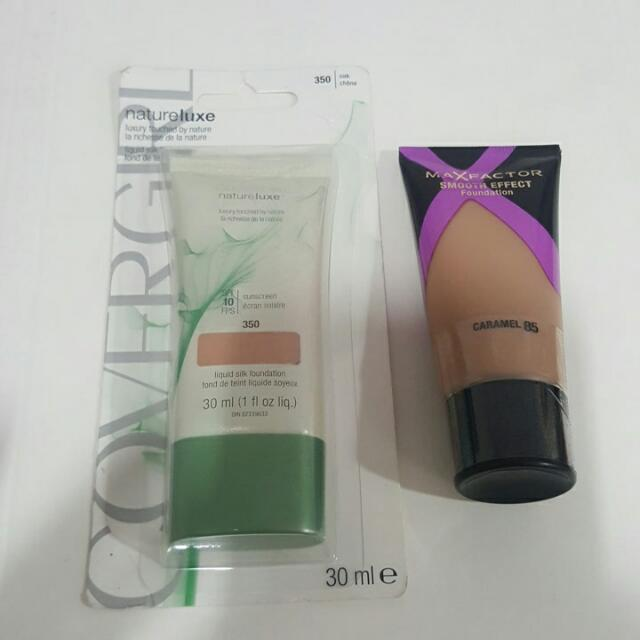 MAXFACTOR AND COVERGIRL LIQUID FOUNDATION