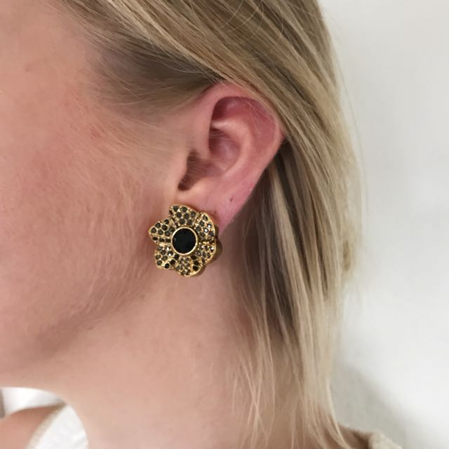 Mimco clip-on crystal encrusted earrings