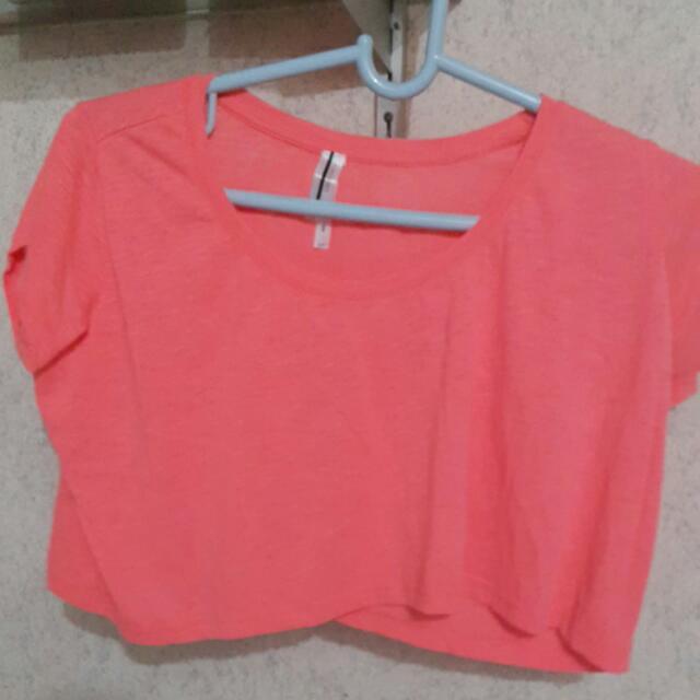 Neon Orange Top -- On Sale