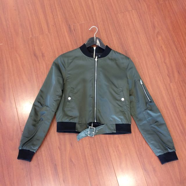 NEW SEASON Khaki Double Zipper Bomber Jacket