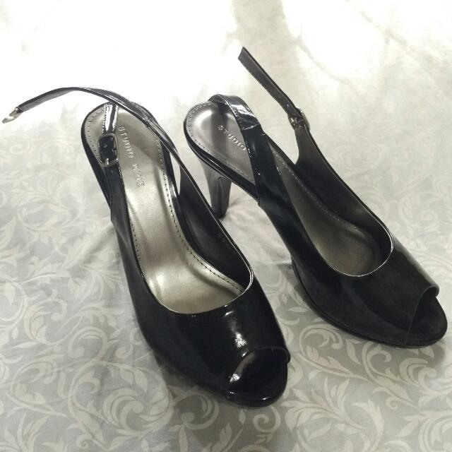 [NEW] Studio Nine Heels Kitten Black Size 36