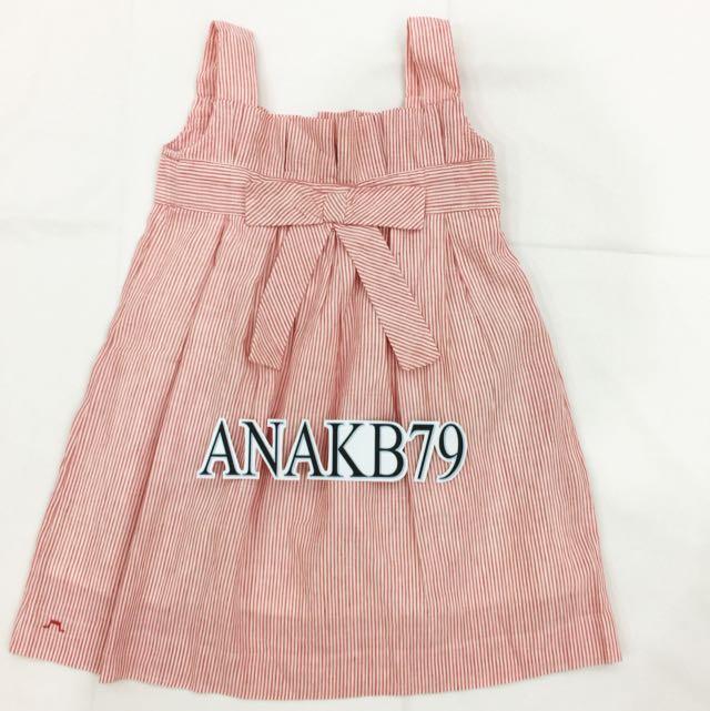 Ori Authentic Chateau De Sable Linen Dress Girl 4 Yrs