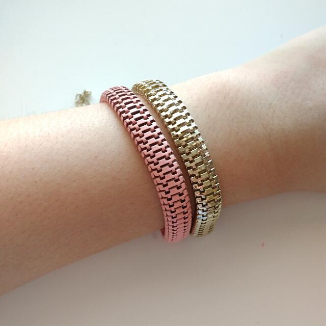 Pink & Silver Chain Link Bracelet