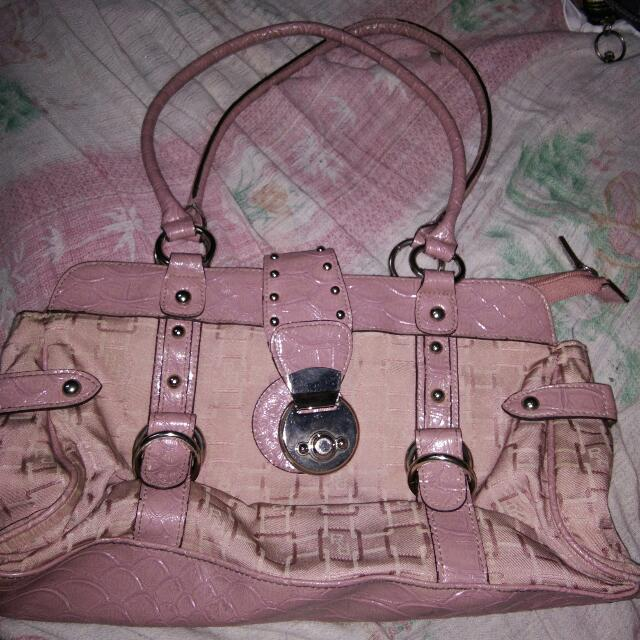 Pink Bag With Metal Studs