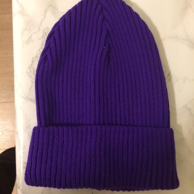 Purple Ribbed Toque