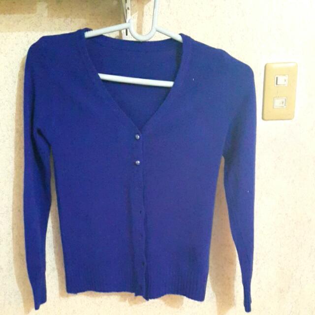 Royal Blue Cardigan -- On Sale