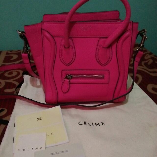 SALE! celine Nano Pink sling