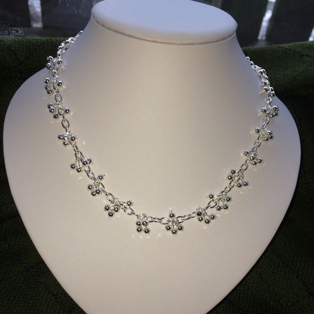 Silver Bracelet/Necklace Set