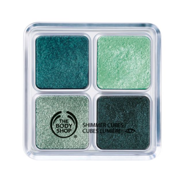 The Body Shop Shimmer Cubes Palette Eyeshadow (22 Green/Turquoise)