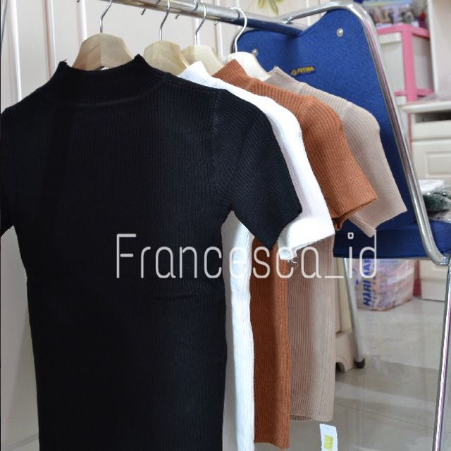 TURTLE NECK TOP ( CHECK IG @francesca_id for promo )