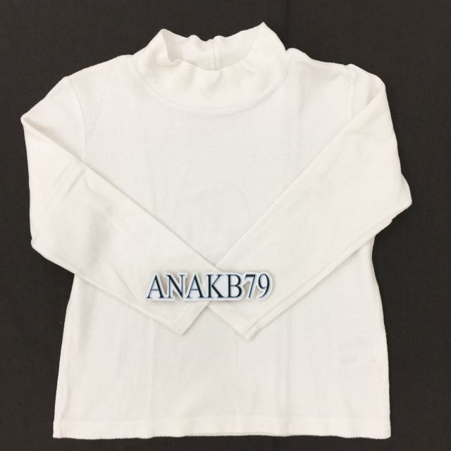 Uniqlo Ori Authentic Fleece Atasan Putih 4-5 Thn