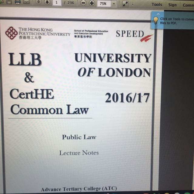 UOL LLB Public Law notes from Poly U Speed