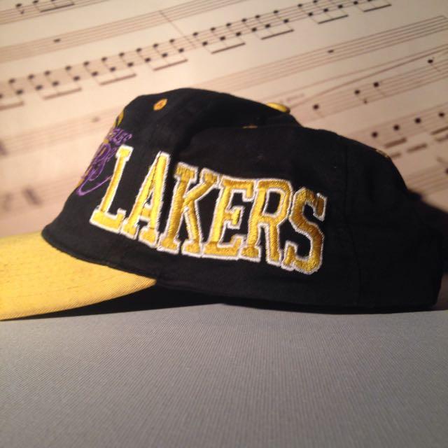 Vintage Space Jam Lakers Snapback
