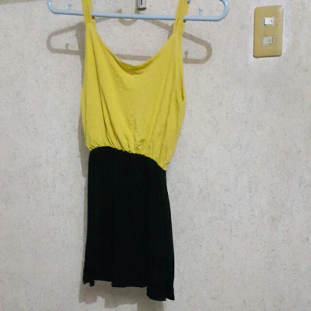Yellow And Black Dress -- On Sale