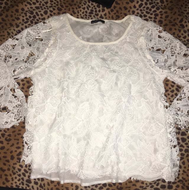 Zara Lace Long Sleeve Top