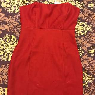 Forever 21 Red Dress Size Small