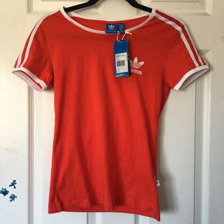 Adidas Red Stripe Tee