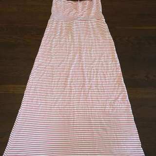 Pink And White Maxi Skirt