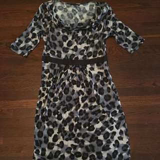 Banana Republic Leopard Dress Size 12