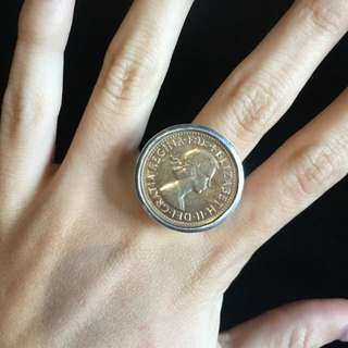Von Treskow 2 Cent Coin Ring
