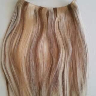 Brand New Two Toned Blonde Human Hair HALO!!!