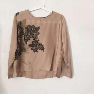 brown silk flower