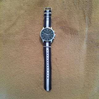 Debon Premium Watch White/Blue Band