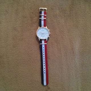 Debon Premium Watch Red/White/Blue Band