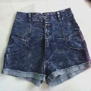 Fourskin Acid Wash Highwaist Shorts