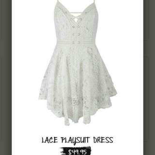 TEMT valleygirl Lace Crochet Playsuit Dress