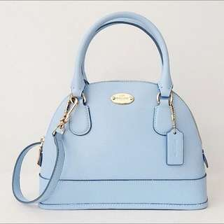 COACH Crossgrain Cora Domed Satchel (only used once)