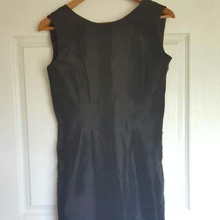 MOROCCO Black Backless Bowtie Shift Dress Size M