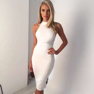 Zachary The Label White Backless Midi