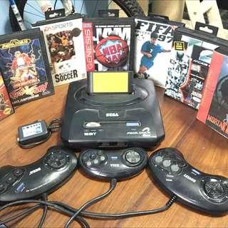 Sega 16 Bit Mega 2 Game Console