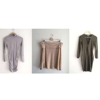 KOOKAI LONG SLEEVE DRESS/TOP BUNDLE