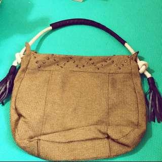 編織側背包