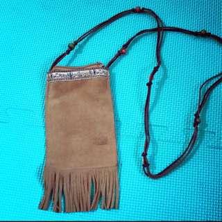 波希米亞風格 皮革小包
