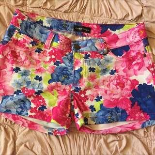 Caroline Morgan Floral Shorts