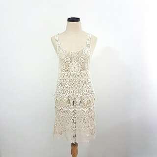 PHRYNE vintage boho festival crochet dress XS / S