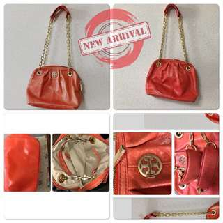 Tory Burch Dena Mini Blood Orange Bag Chain