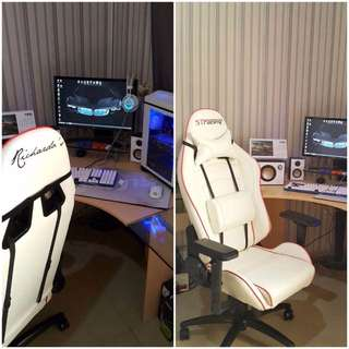 Full White Classic - STRACING Gaming Chair