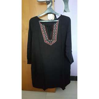 Black Dress With Bordir