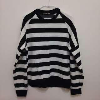 韓國帶回 黑白條紋長袖T恤 TEE