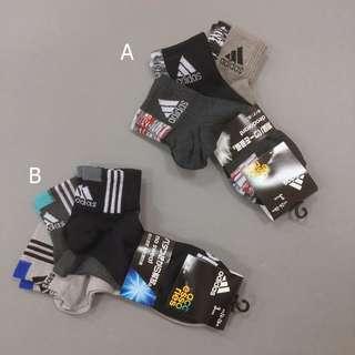 adidas 愛迪達 基本款 三入襪 組