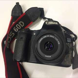 Canon EOS 60D + Canon 40mm Lens
