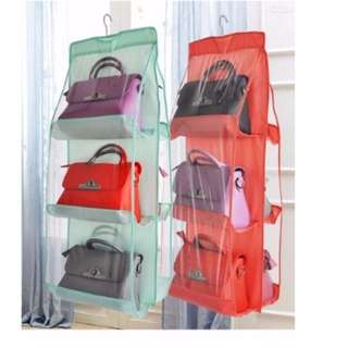 Transparent storage bag hanging wardrobe bag [ handbag ]