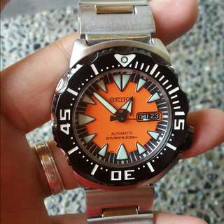 "Seiko SRP315 ""Orange Monster "" 2nd Gen"