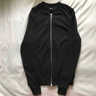 BooHoo Black Cotton Bomber Jacket
