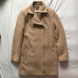 Missguided Camel Biker Coat