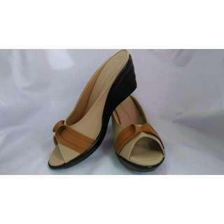 Ribbon Semi-closed Shoes
